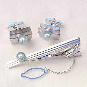 メンズジュエリー 真珠 タイピン パール タイバー カフス あこや真珠 シルバー メンズ 冠婚葬祭 送料無料 父の日 バレンタイン
