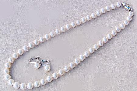 真珠 真珠 ネックレス 8mm-8.5mm パール ネックレス イヤリング 2点セット 8mm-8.5mm あこや, ヒワサチョウ:41c0d133 --- sunward.msk.ru