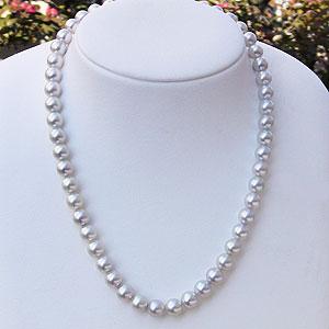 母の日 2019 真珠 パール ネックレス チョーカー あこや本真珠 ナチュラル 8mm-8.5mm