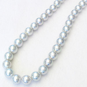 母の日 2019 あこや本真珠ネックレス パールネックレス 8.0mm-8.5mm アコヤ本真珠 K18WG ホワイトゴールド