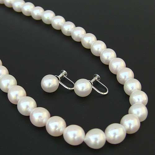 成人式 パール ネックレス 贈り物 イヤリング セット あこや本真珠 ブライダル 冠婚葬祭 結婚式 葬儀 フォーマル 送料無料