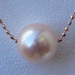母の日 2019 真珠パール6月誕生石スルーネックレスタヒチ黒蝶真珠11mmあこや本真珠8mmプチネックレス18金全長約45cm