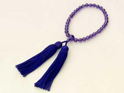 母の日 2019 念珠 アメジスト 紫水晶 数珠 念珠ケース付き