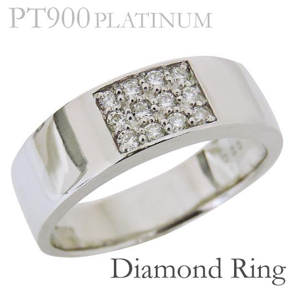 リング フラットバンド ダイヤモンド PT900プラチナ レディース