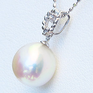 真珠 パール ペンダントトップ あこや本真珠 9mm アコヤ K18WG ホワイトゴールド 送料無料H29IWED