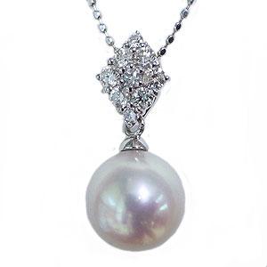 母の日 2019 ★真珠は6月の誕生石です★SV シルバーあこや本真珠(アコヤ)ペンダントトップ(ヘッド)キュービックジルコニア付ペンダントネックレスです