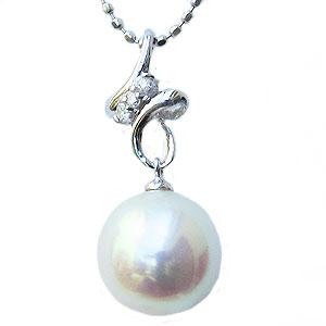 母の日 2019 真珠 パール ペンダントトップ あこや本真珠 9mm アコヤ