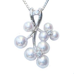 真珠 パール ペンダント ネックレス あこや本真珠 3mm 4mmアコヤ ベビーパール 送料無料