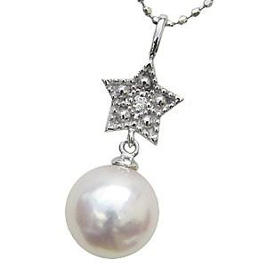 入学 入園 真珠 パール ペンダント あこや本真珠 PT900 プラチナ 真珠の直径8mm ピンクホワイト系 ダイヤモンド 1石 0.01ct ペンダント 6月の誕生石