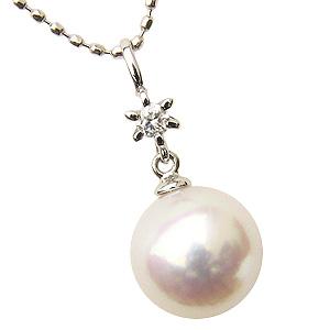 ペンダントトップ ネックレスペンダントペンダント あこや真珠パール ホワイトゴールドネックレス ダイヤモンド ジュエリー