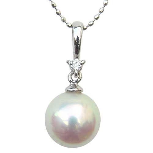 ペンダントトップ ダイヤ あこや真珠 PT900 プラチナ ネックレスペンダント ダイヤモンド ジュエリー