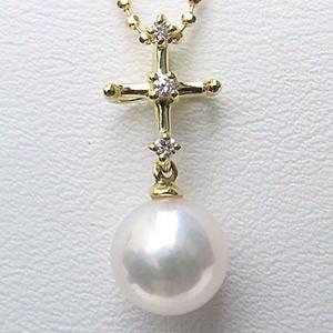 真珠 パール あこや本真珠 ペンダントトップ(ヘッド) 7mm K18 ゴールド