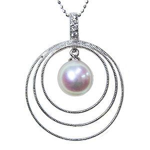 6月誕生石 ペンダントトップ プラチナ ネックレスペンダント あこや真珠パール PT900プラチナネックレス ダイヤモンド