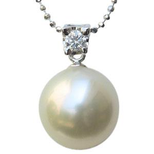 真珠 パール ペンダントトップ 南洋白蝶真珠 11mm ペンダントヘッド K18WG ホワイトゴールド 送料無料
