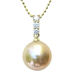 母の日 2019 真珠 パール ペンダントトップ 南洋白蝶真珠 ゴールデンパール 10mm 18金 K18 ゴールド