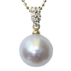 母の日 2019 真珠 パール ペンダントトップ 南洋白蝶真珠 10mm K18 ゴールド
