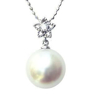 母の日 2019 パール ペンダント 南洋真珠 パール ペンダントトップ 星 スター ダイヤモンド プラチナ PT900