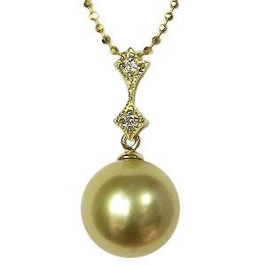 母の日 2019 真珠 パール ペンダント ペンダントトップ 南洋白蝶真珠 ゴールデンパール ゴールドパール K18 18金 ゴールド