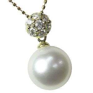 ペンダントトップ ペンダント パール 南洋真珠 K18 ゴールド ネックレス ダイヤモンド ジュエリー