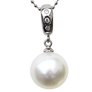母の日 2019 ネックレス 南洋真珠パール PT900 プラチナ ペンダント ダイヤモンド ジュエリー