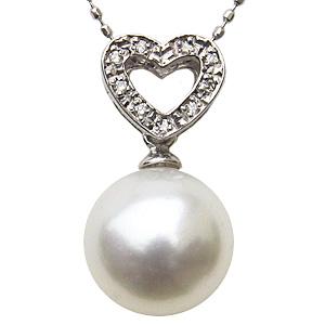 ペンダントトップ ダイヤ ネックレス 南洋真珠パール PT900 プラチナ ペンダント ダイヤモンド ジュエリー