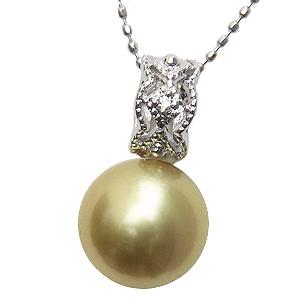 母の日 2019 ネックレス 南洋真珠パール PT900プラチナネックレス ダイヤモンド ペンダント