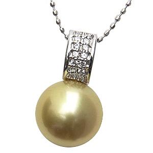 母の日 2019 ネックレス 南洋真珠パール ホワイトゴールド ネックレス ダイヤモンド ペンダント
