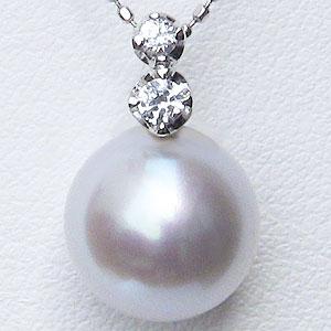 母の日 2019 真珠 パール 南洋白蝶真珠 10mm ペンダントトップ(ヘッド) ホワイトゴールド