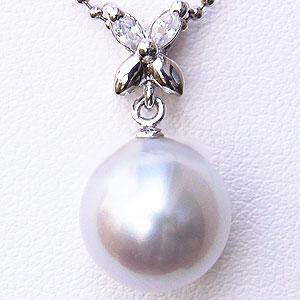 母の日 2019 真珠 パールペンダントトップ 南洋真珠 10mm プラチナ PT900