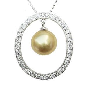 母の日 2019 ネックレス 南洋真珠パール ホワイトゴールド ペンダントネックレス ダイヤモンド ジュエリー