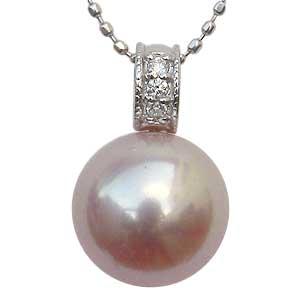 ペンダントトップ ネックレスペンダント 淡水パール 真珠 ダイヤモンド ホワイトゴールド ペンダント ジュエリー