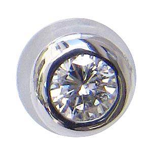ダイヤモンド ピアス K18WG ホワイトゴールド シリコンキャッチ付 片耳用ピアス 送料無料 普段使い