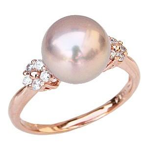 パールリング 真珠 指輪 湖水真珠 SVシルバー 淡水パール ピンクゴールドメッキ