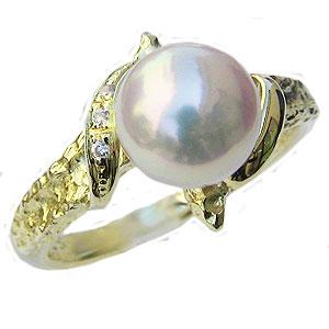 パールリング レディース 真珠の指輪 あこや本真珠 18金 K18ゴールド 7mm アコヤ あこや パールリング ジュエリー 贈答 冠婚葬祭 結婚 ブライダル 入学 入園 卒業 卒園 保証書付 送料無料 普段使い カジュアル
