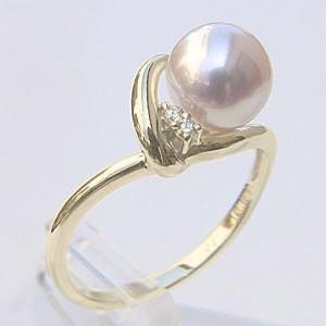パールリング レディース 真珠の指輪 あこや真珠 ダイヤモンド K10ゴールド 6月誕生石 贈答 プレゼント 冠婚葬祭 結婚 ブライダル 入学 入園 卒業 卒園 保証書付 ケース付 送料無料