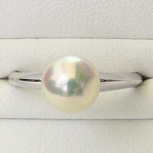 入学 入園 リング パール 指輪 あこや真珠パールリング K10ホワイトゴールド ジュエリー