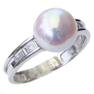 リング パール 指輪 あこや 真珠 あこや真珠パール ホワイトゴールド リング ダイヤモンド ジュエリー レディース 冠婚葬祭