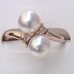 パールリング レディース 真珠の指輪 あこや真珠 ダイヤモンド K10ピンクゴールド 6月誕生石 贈答 プレゼント 冠婚葬祭 結婚 ブライダル 入学 入園 卒業 卒園 保証書付 ケース付 送料無料