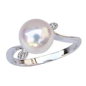 パールリング レディース 真珠の指輪 あこや本真珠 プラチナ 9mm アコヤ あこや 真珠の指輪 パールリング 6月誕生石 ジュエリー 贈答 冠婚葬祭 結婚 ブライダル 入学 入園 卒業 卒園 保証書付 送料無料