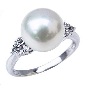 パール リング パールリング レディース 真珠の指輪 オーロラ 花珠 花珠真珠 本真珠 ダイヤモンド PT900プラチナ アコヤ あこや ブライダルリング 真珠の指輪 式典 6月誕生石 真珠婚 プレゼント 冠婚葬祭