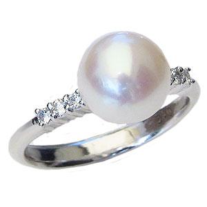 母の日 2019 真珠パール 6月誕生石 リング あこや本真珠 8.5mm 指輪