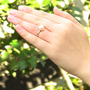 パールリング 真珠指輪 パール 真珠 リング 指輪 アコヤ あこや キュービックジルコニア シルバー レディース 冠婚葬祭 6月誕生石 プレゼント ギフト 品質保証書付 ケース付 送料無料wOPNnX80k