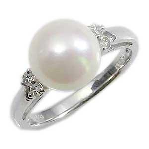 パールリング レディース 真珠の指輪 あこや本真珠 ダイヤモンド PT900プラチナ 8.5mm アコヤ あこや 真珠の指輪 リング 6月誕生石 ジュエリー 贈答 プレゼント 冠婚葬祭 結婚 ブライダル 入学 卒業 保証書付 ケース付 送料無料