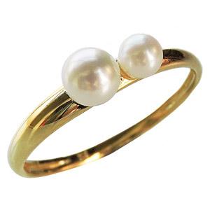 パール リング パールリング レディース 真珠の指輪 あこや本真珠 ベビーパール K18イエローゴールド 18金 3-3.5mm 4-4.5mm 真珠指輪 マルチプル シンプル 記念日 アコヤ 6月誕生石 真珠婚 ギフト 誕生日プレゼント 送料無料 冠婚葬祭 普段使い カジュアル