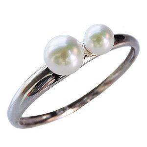 パールリング レディース 母の日 あこや本真珠 ベビーパール K18WGホワイトゴールド 18金 3-3.5mm 4-4.5mm 真珠指輪 シンプル 記念日 アコヤ 6月誕生石 真珠婚 ギフト 誕生日プレゼント 送料無料