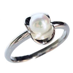 パール リング パールリング レディース 真珠の指輪 あこや本真珠 K18WGホワイトゴールド 18金 5mm 真珠指輪 シンプル 記念日 アコヤ 6月誕生石 真珠婚 ギフト 誕生日プレゼント 送料無料 冠婚葬祭 普段使い