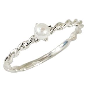 パールリング レディース 母の日 ベビーパール あこや本真珠 K18WGホワイトゴールド アコヤ パールの指輪 一粒 真珠の指輪 真珠リング 記念日 6月誕生石 プレゼント 品質保証書付 送料無料