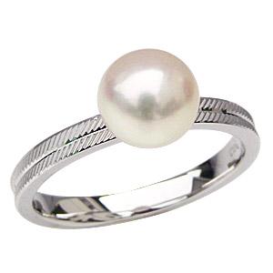 結婚 デザインカットリング PT900プラチナ 冠婚葬祭 7mm レディース 保証書付 あこや ジュエリー プレゼント 贈答 ブライダル 卒業 シンプル アコヤ あこや本真珠 パールリング 真珠の指輪 真珠の指輪 リング 入学 真珠指輪