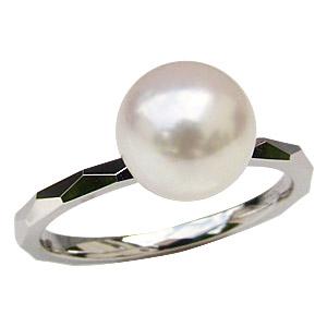 パールリング レディース 真珠の指輪 あこや本真珠 PT900 プラチナ ホワイトピンク系 8mm デザインカット シンプル アコヤ あこや 真珠の指輪 リング 6月誕生石 ジュエリー 贈答 冠婚葬祭 結婚 ブライダル 入学 卒業 保証書付 送料無料