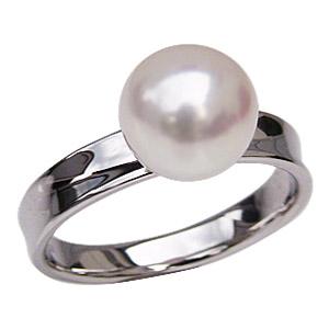 パールリング レディース 真珠の指輪 あこや本真珠 プラチナPT900 ホワイトピンク系 8mm デザインカットリング シンプル アコヤ あこや 真珠の指輪 6月誕生石 ジュエリー 贈答 冠婚葬祭 結婚 ブライダル 入学 卒業 保証書付 送料無料